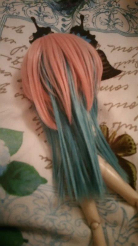 J'ai remis la wig stock de Yukimo pour voir où je coupe