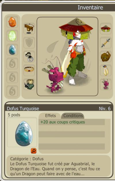 Drop dofus turquoise +20cc !