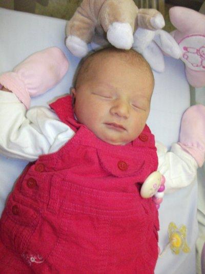 Ma 2ème filleule née le 24 janvier 2011