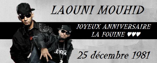 Joyeux Anniversaire La Fouine ♥♥