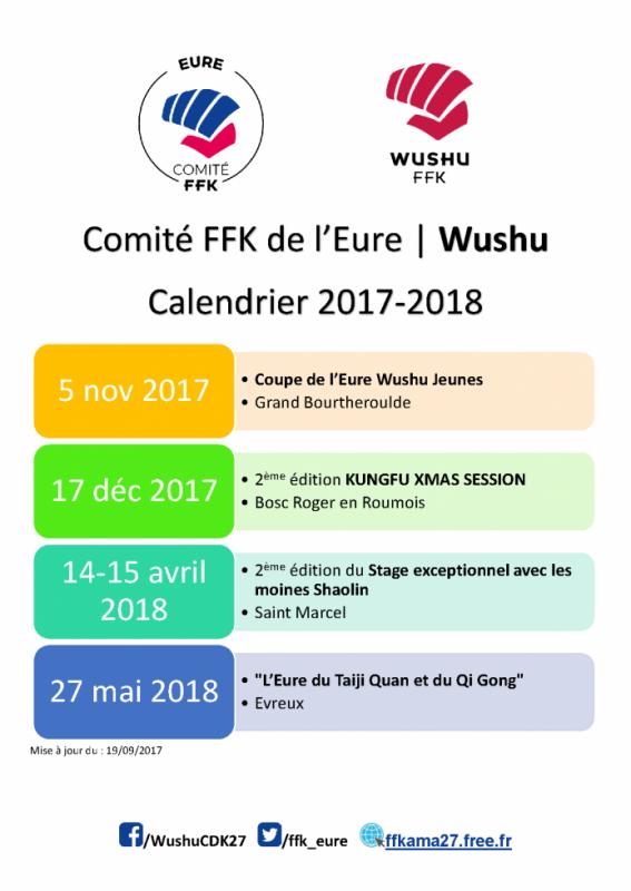 calendrier wushu