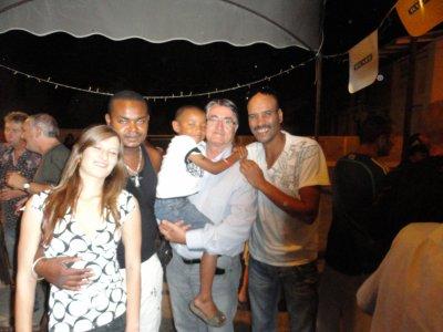 Tino, Dris, Monsieur le Maire et moi