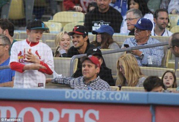 Taylor à un Match de Baseball
