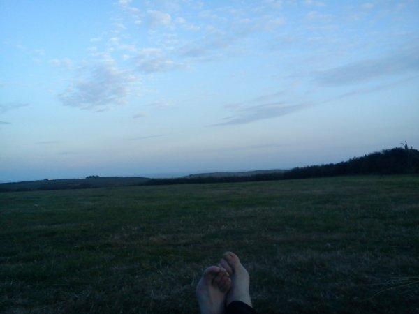 """le """"pied"""" a l état pur pas d humains , pas de bruit !!!!!!!!!et seuls sur ce camping"""