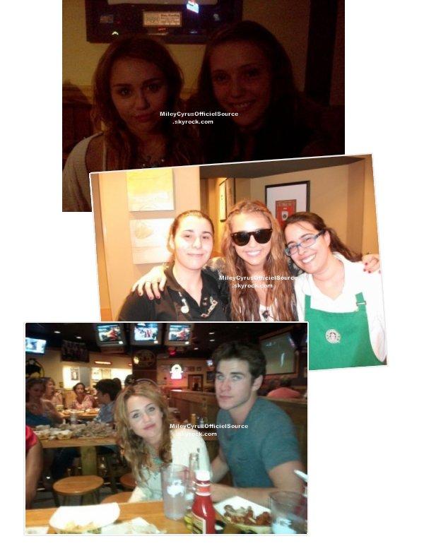 17/07/11 Miley a rejoint son petit ami , Liam , qui tourne le film 'AWOL' .