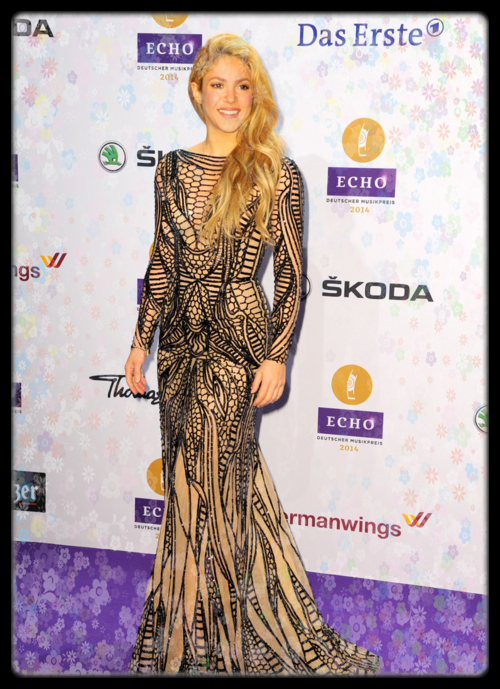 Shakira , aux écho Music Awards 2014 de BERLIN