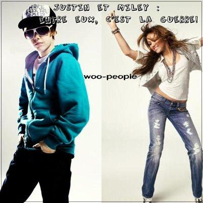 La guerre Miley-Justin. Comment cela a commencé?