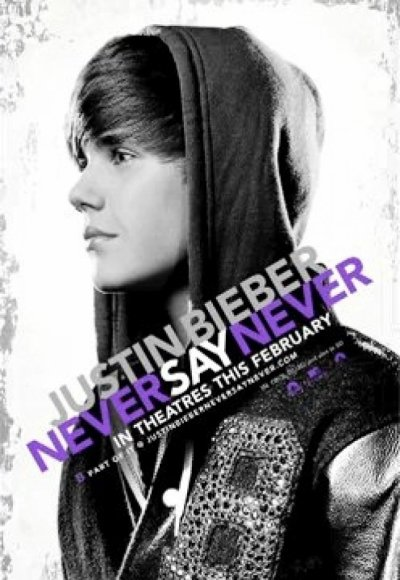 L'affiche du film de Justin Bieber-Never Say Never