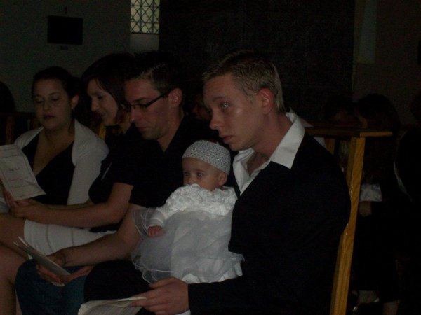 Ma tite filleule à son baptême