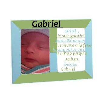 mon ptit homme Gabriel (mon fils )