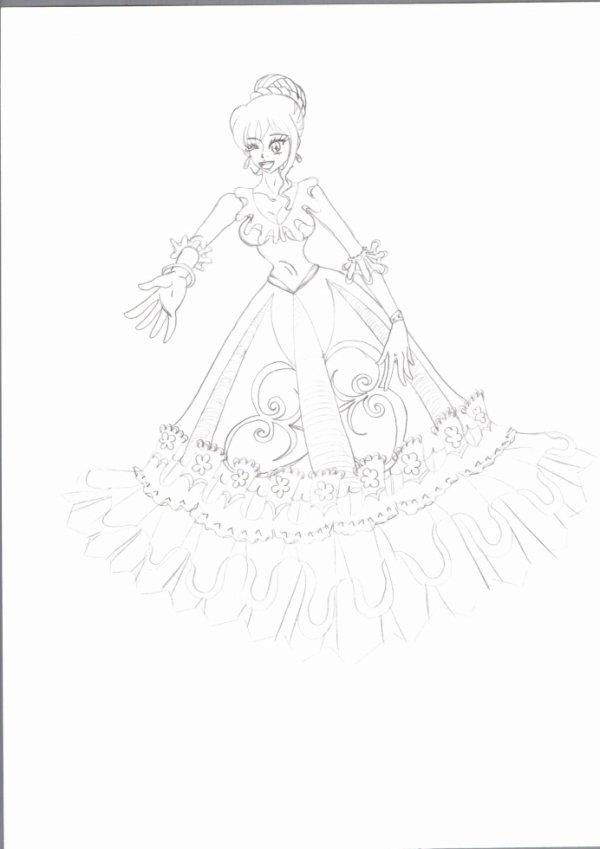 Une magicienne en robe de soirée