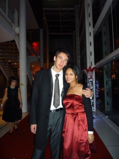 Mon beau-frère Alexandre et ma soeur Melissa