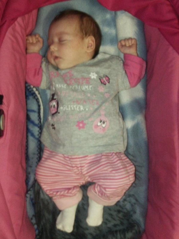 ma fille a 1 mois