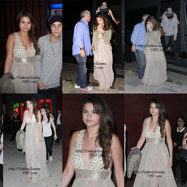 Selena sortant aek son Justin :)