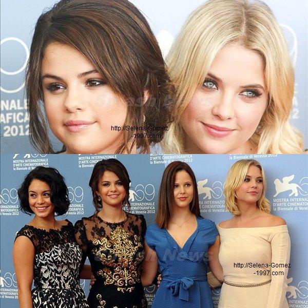 Selena et les autres membres de ''Spring Beaker'' pour Photo-call a Venise