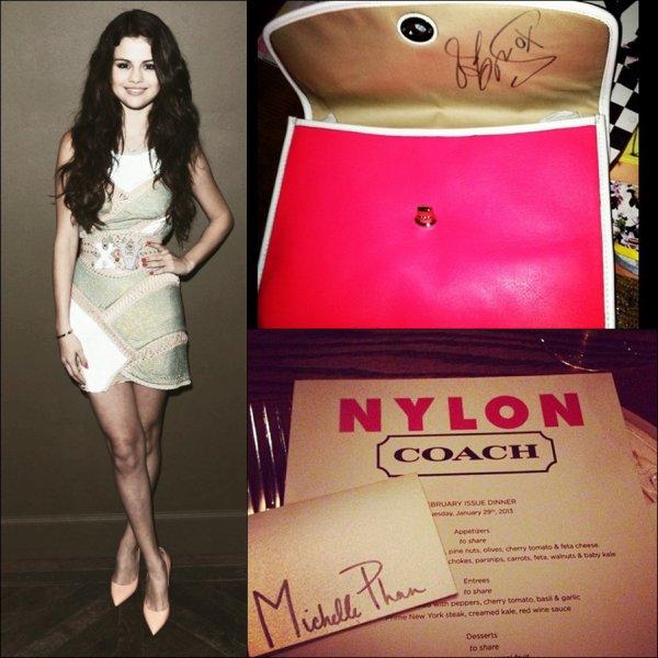 Le 29 Janvier 2013 : Elle assiste au lancement du magazine NYLON !