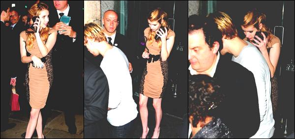 Le mercredi 6 Juillet , Emma était a l'après-fête de l'avant première d'Harry Potter 7 (Deuxième Partie).