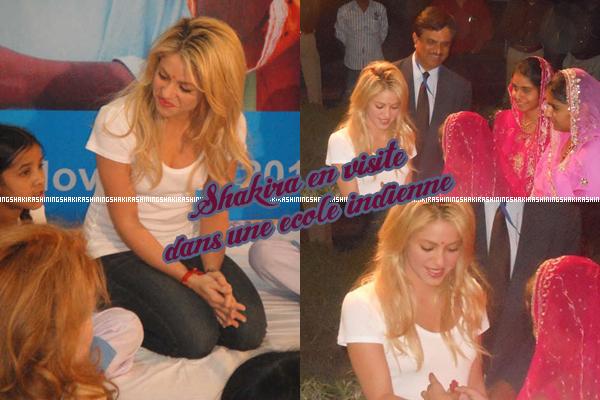 14.10.11. Shakira était en inde, elle a rendu une visite a des enfants dans une école à Udaipur.