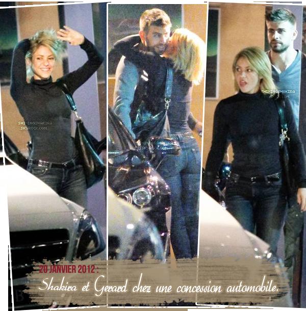 02.02.12 Au karting le jour de leur anniversaire avec des amis, dont Carles Puyol et sa petite amie.