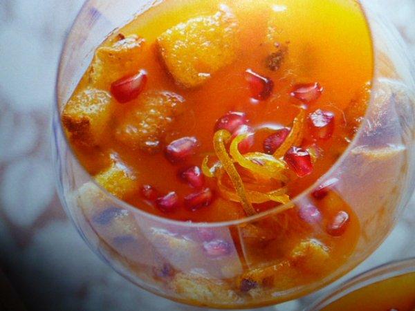 panettone in coppa con agrumi
