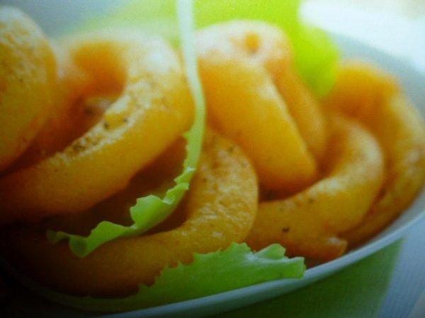 anelli di cipolla e zafferano