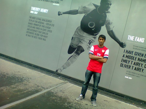 London 2012 : At The Emirates Stadium !!