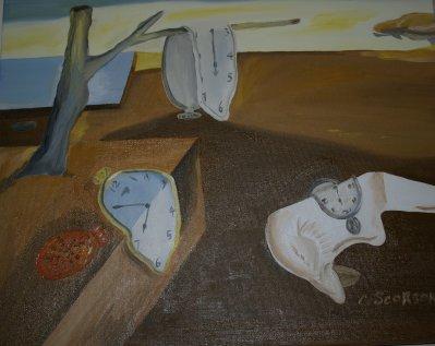 La persistance de la mémoire copie de Salvadore Dali