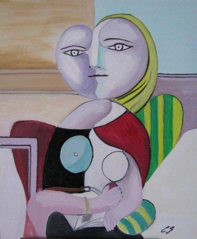 Lecture, Woman Reading copie Pablo Picasso