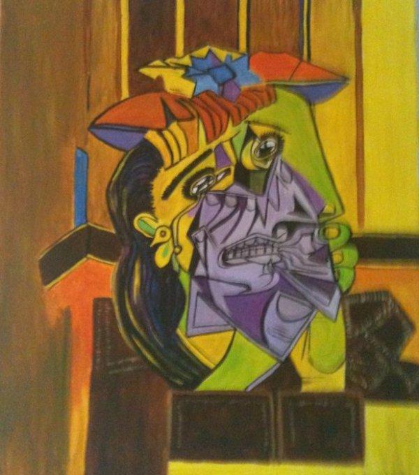 Copie,La femme qui pleure, Picasso