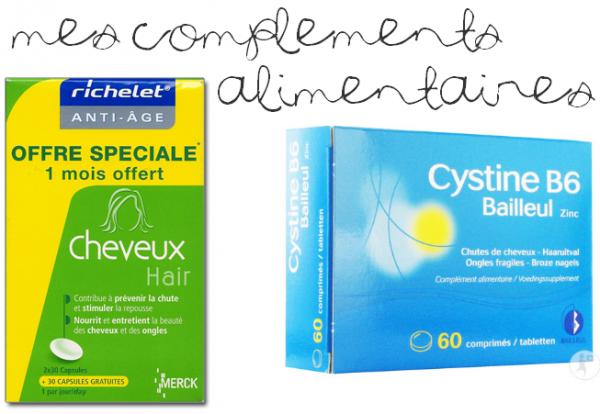 P O U R_ L A_ C H U T E_ E T_ L A_ P O U S S E .Prise de Richelet + Cystine B6 en capsules ._._