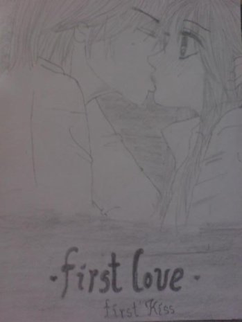 Mon tout dernier dessin :D une scène du manga: Kare first love (1)♥