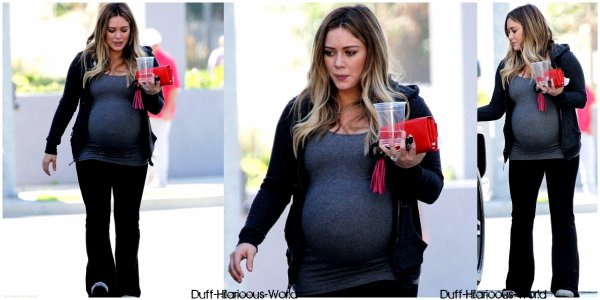 10 FEVRIER 2012 : Hilary quittant son cours de pilates.  & quittant le café JINKY'S dans Studio City.