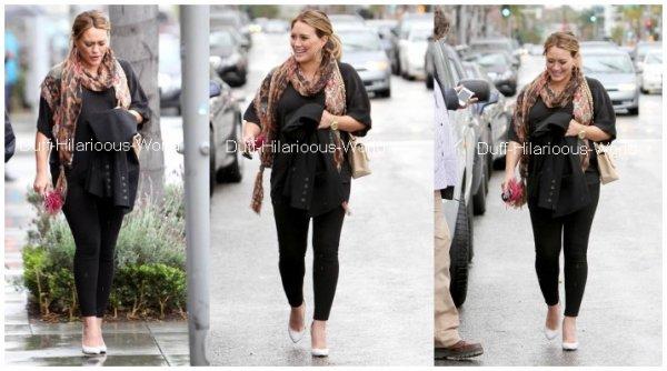 """15 FEVRIER : Dans Beverly Hills_Hilary sortant d'un centre médical - Puis repartant d'un déjeuner - Quittant en compagnie de sa soeur Haylie le """"Madeo Restaurant"""""""