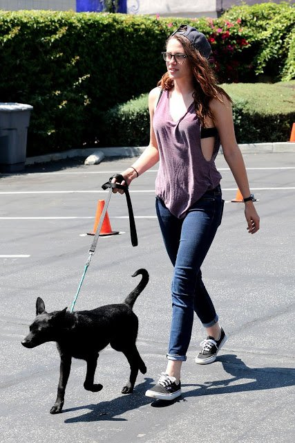 Nouvelle photos de Kristen Stewart à LA avec son petit chien