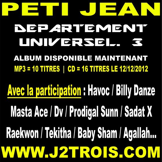 PETI JEAN -  DEPARTEMENT UNIVERSEL vol.3