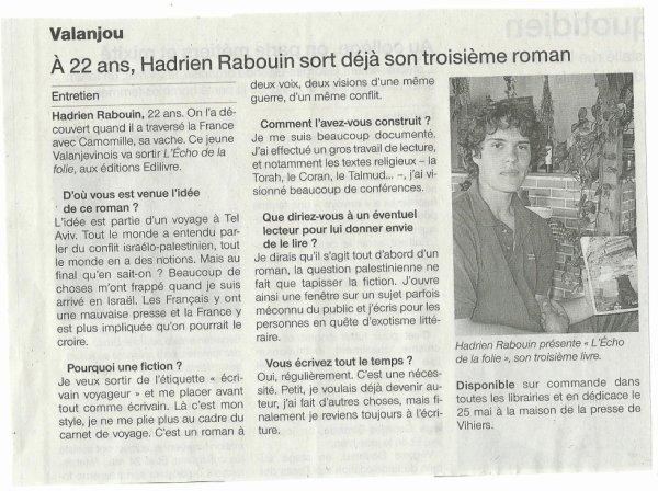 Ouest France 15 mai
