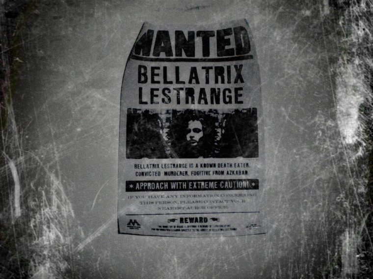 Voici le WANTED de Bellatrix lestrange