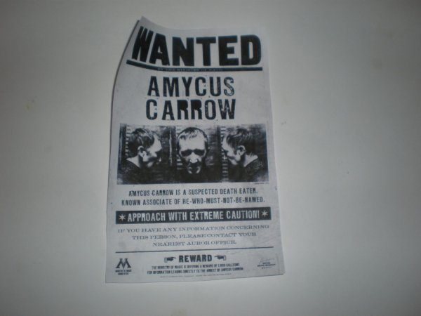 Voici le WANTED de Amycus Carrow