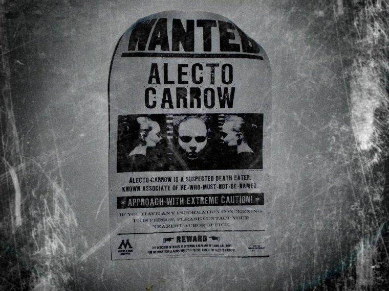 Voici le WANTED de Alecto Carrow