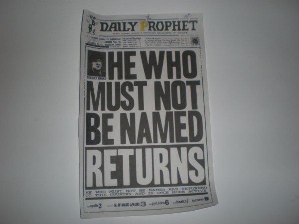 L'affiche du ministère qui concerne Voldemort !