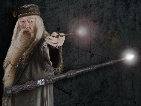 Nouveauté noblecollection Baguette Albus Dumbledore/sureau lumineuse ! ! ! $)