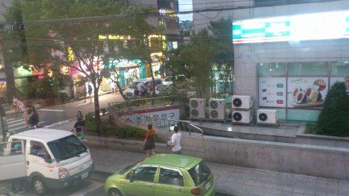Hongdae pendant le typhon