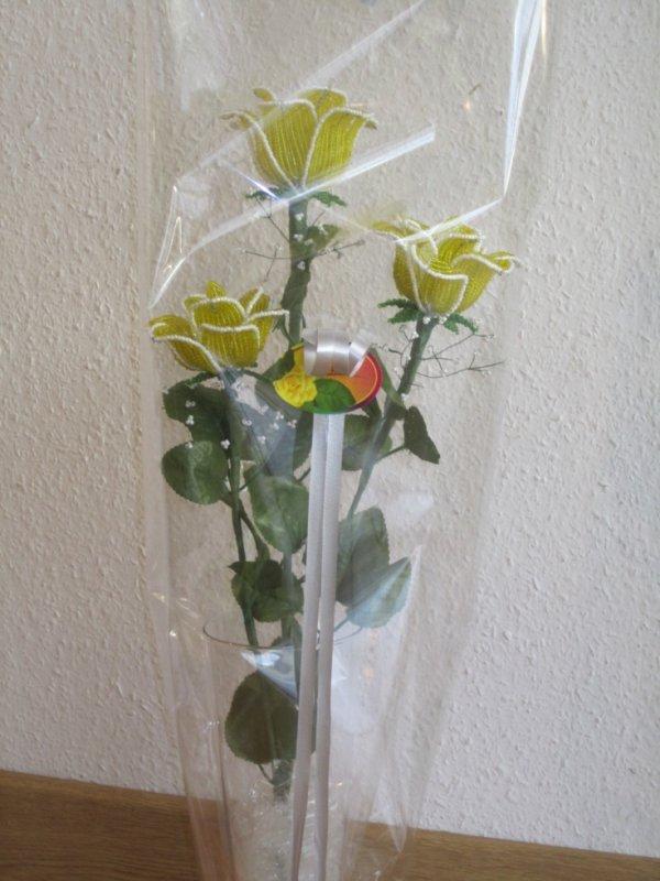 Bouquet de roses jaune