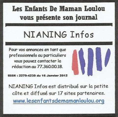Les Enfants De Maman Loulou vous présente NIANING Infos