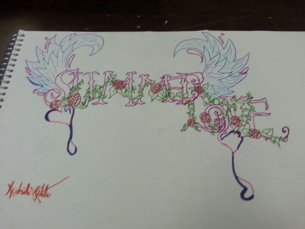 Mon graffiti que jai fait au lycée an Arts.