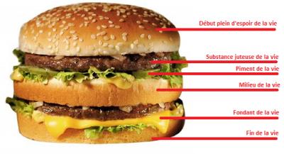 Théorie hypotétique du hamburger de la vie, par Moi ;)