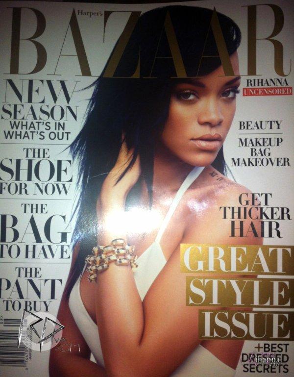 Rihanna en couverture du « Harper's Bazaar » du mois d'août