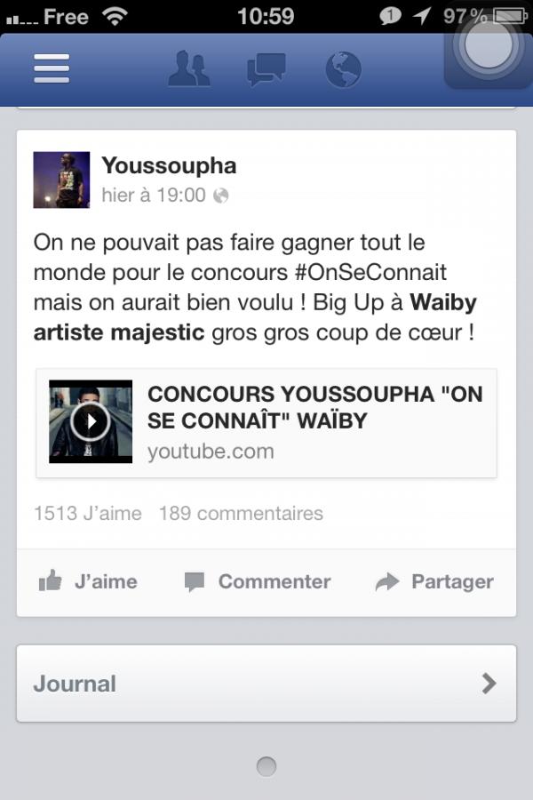 Un petit message de Youssoupha.....