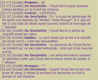 Chuck norris. Waht else?
