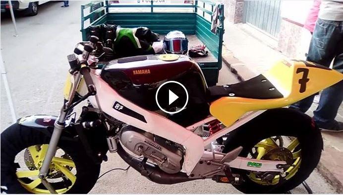 Partie Cycle Moto avec Moteur Scoot Minarelli carter court